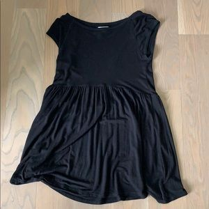 Short black cotton t shirt dress
